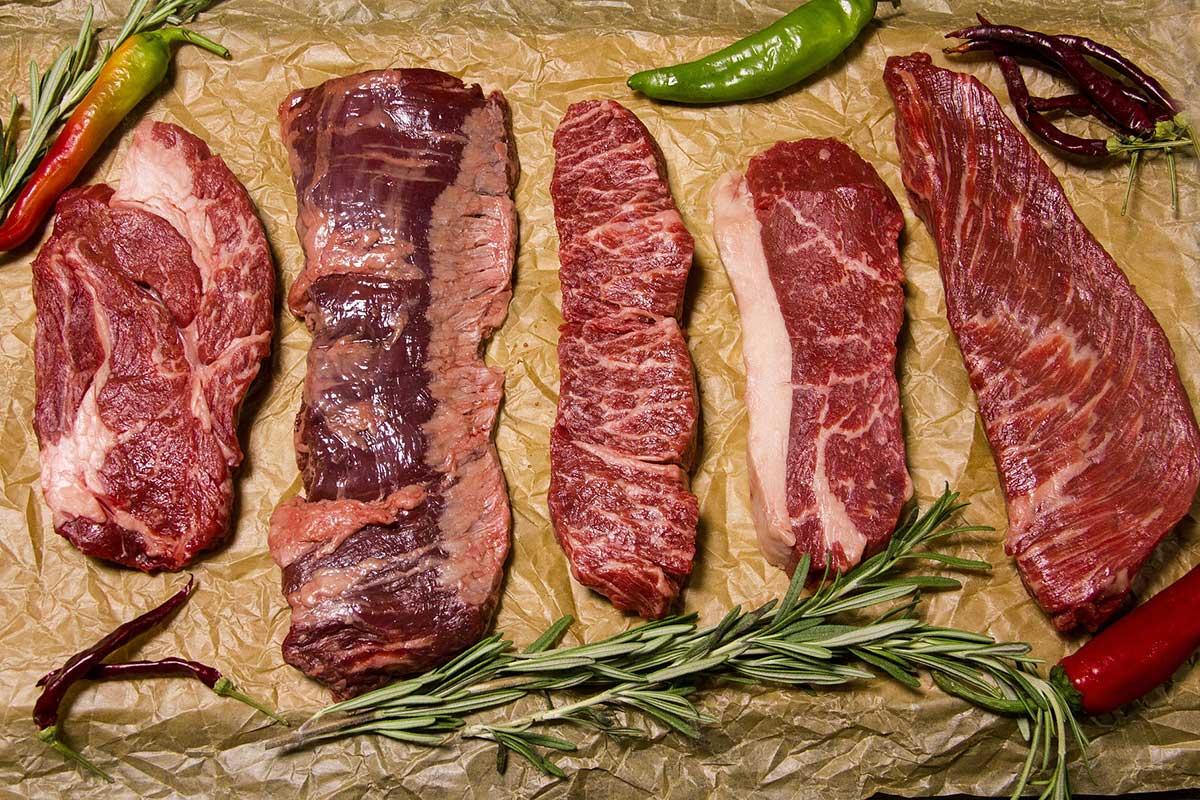 Rindfleisch Steaks