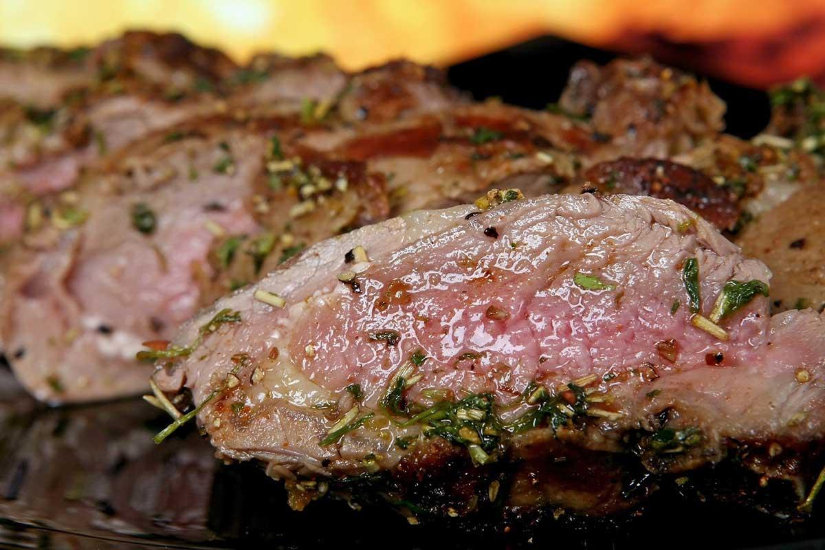 Steak rückwärts gegrillt